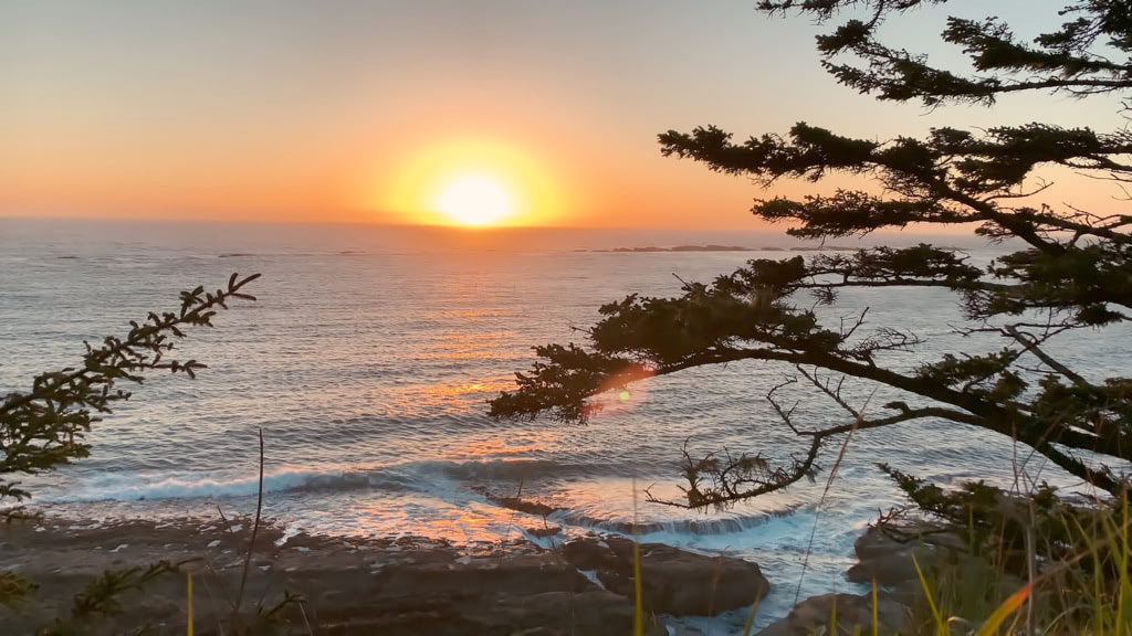 Video of Sunset in the Cape Arago State Park