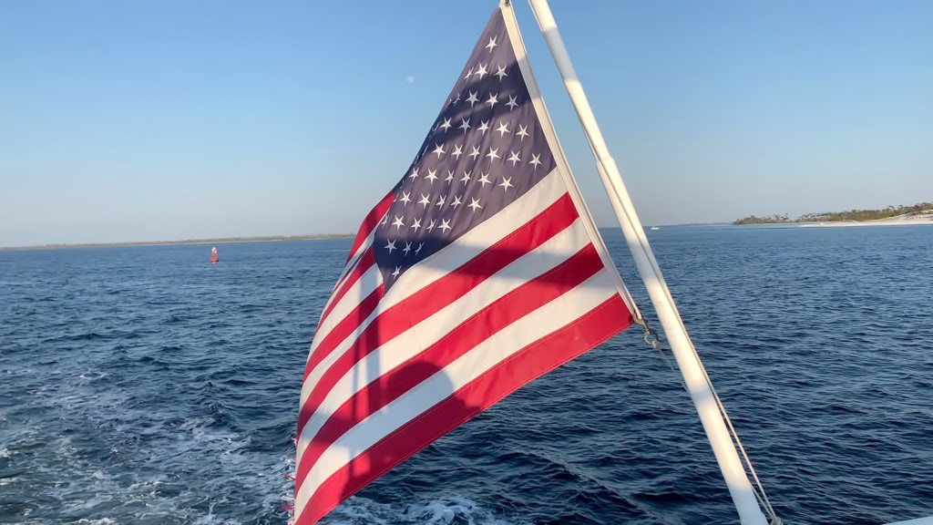 Waving United States Flag